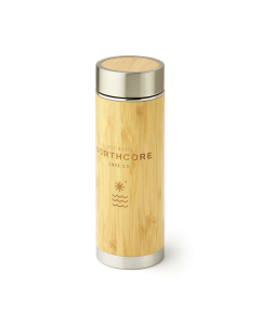 Bamboo Stainless Steel Thermos Flask 360ml