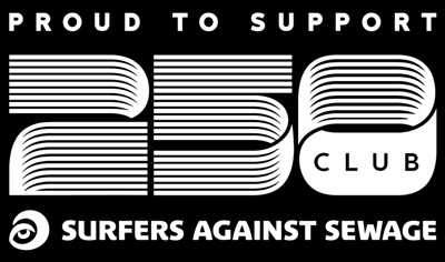 Proud to support Club 250. Surfers against sewage